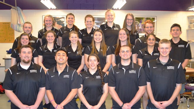 The Athletic Training program members at Linfield College.