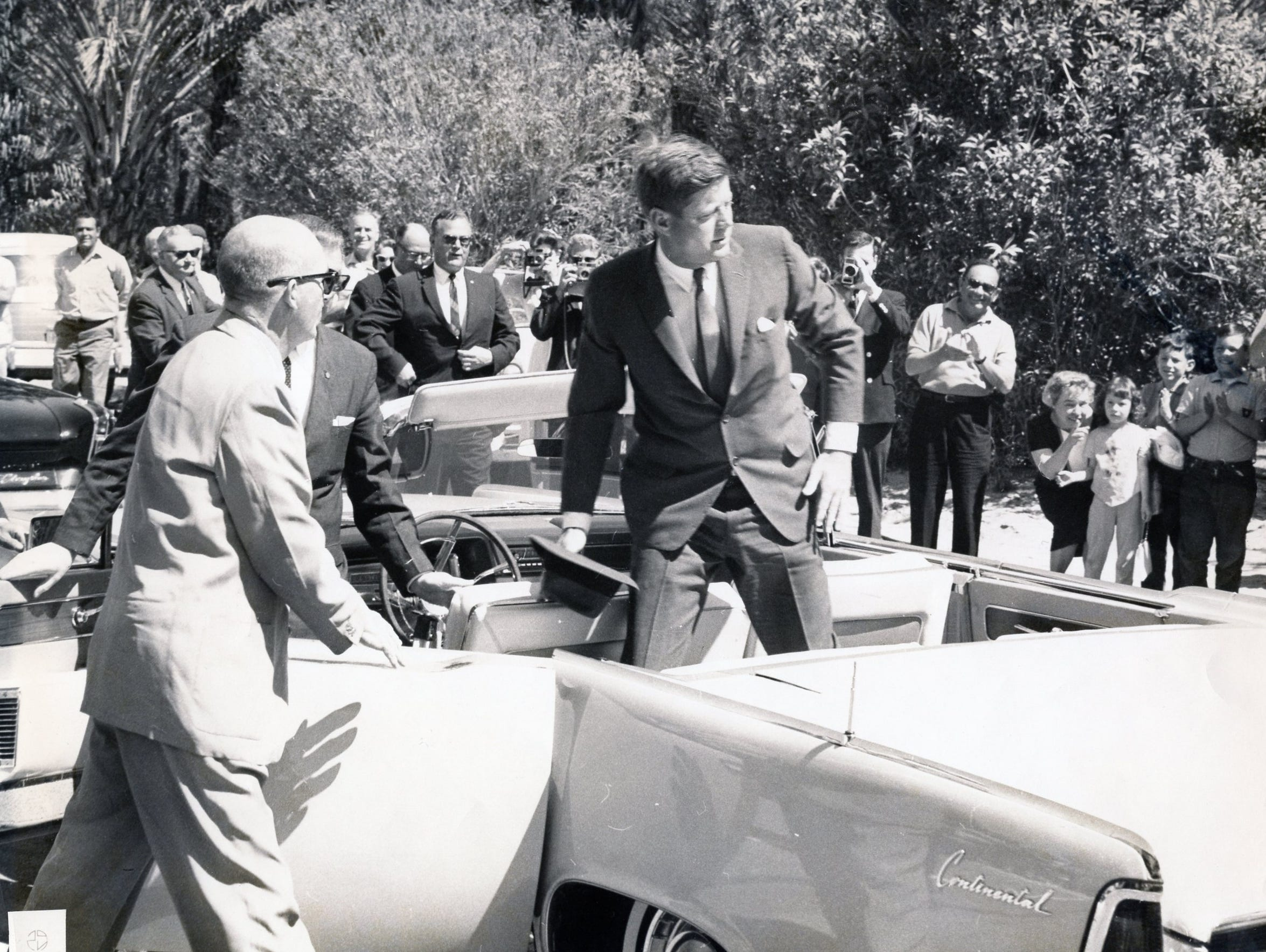 Pres. John F. Kennedy's visit to Palm Springs - standing