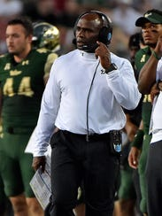 South Florida Bulls head coach Charlie Strong.