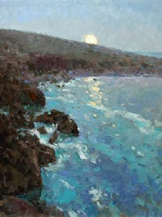 """Coast Moon Rising"" by Richard Oversmith."