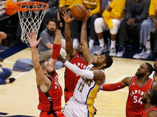 USP NBA: PLAYOFFS-TORONTO RAPTORS AT INDIANA PACER S BKN USA IN