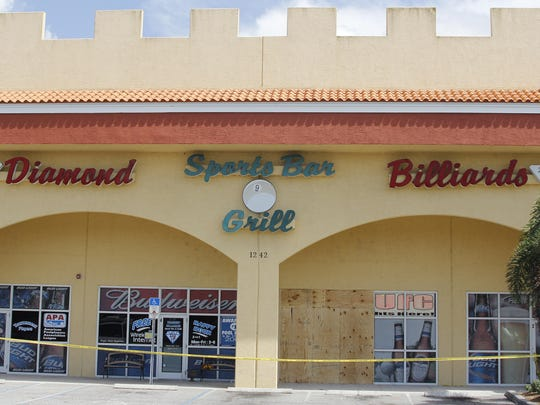 Diamond Billiards is taped off Tuesday afternoon the day after a drunken driver crashed into the pool hall killing one and injuring two patrons. William Gulliver smashed into the business killing Ronald Gravel, a kitchen manager at the pool hall and bar.