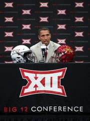 Iowa State football head coach Matt Campbell speaks