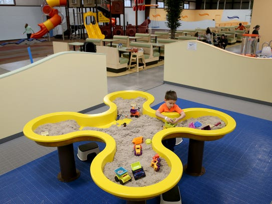 Indoor sand box at Ontario Play Place.