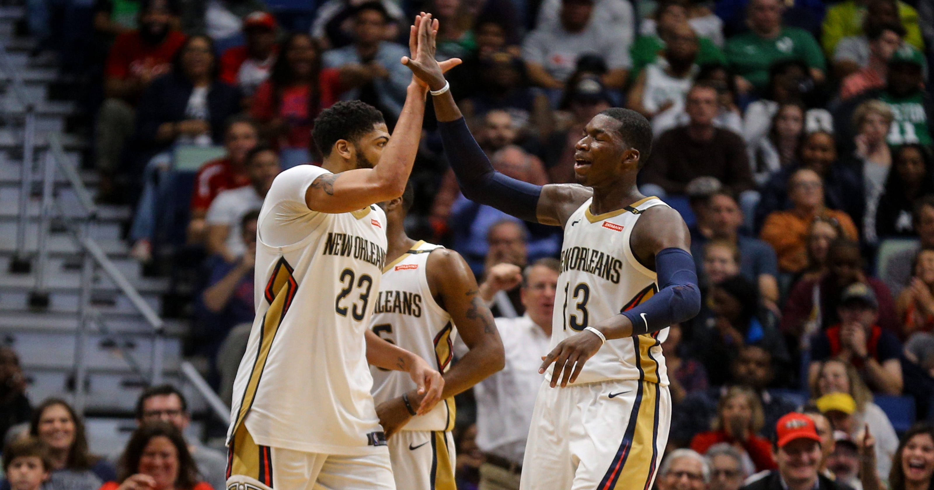 77bc1eb3f3c3 Anthony Davis helps Pelicans take down undermanned Celtics