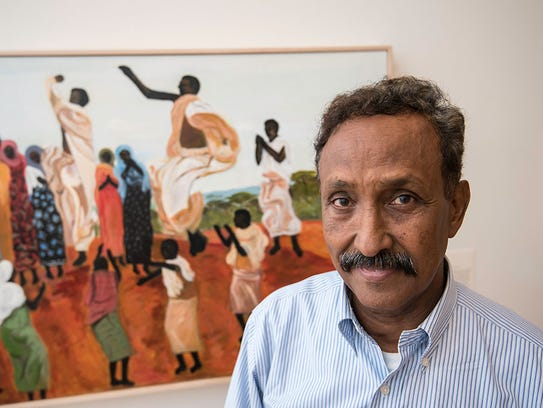 Aziz Osman, 69, has a highly abstract signature style.