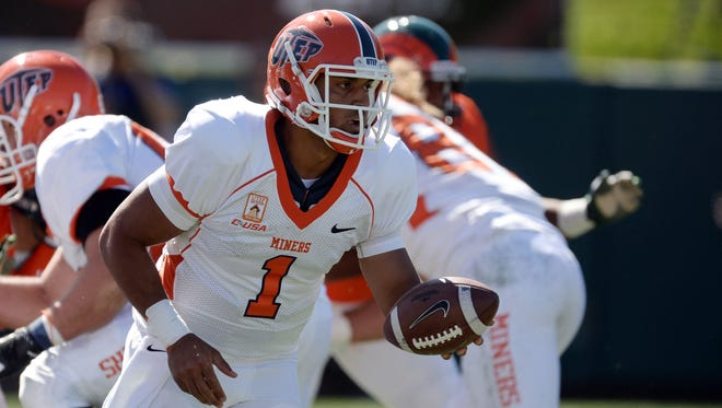 UTEP was a different team with quarterback Jameill Showers (1) in the lineup in 2013.