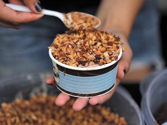 Chocolate custard with nuts from Abbott's ice cream