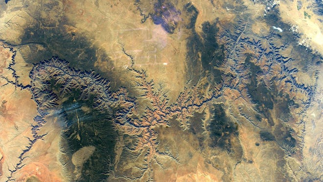 Astronaut Randy Bresnik posted this photo of the Grand Canyon, taken from the International Space Station, to his social-media accounts on Dec. 12, 2017.