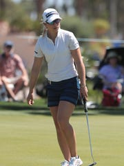 Jodi Ewart Shadoff on 9 during the second round of