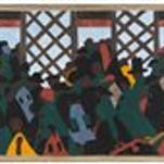 This photo provided by the Museum of Modern Art shows a panel of The Great Migration series by African-American artist Jacob Lawrence.