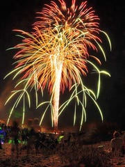 Thousands pack Cocoa Beach for fireworks celebrating the 2016 Fourth of July weekend.