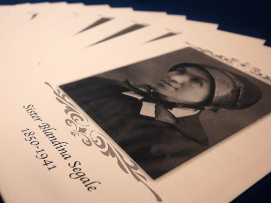 Brochures of Sister Blandina Segale's biography available