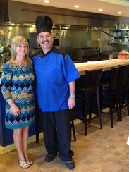 Owners Mari and Chef Christian Vivet of Blue Windows