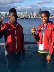 Zachary 400m runner Sean Burrell and Byrd hurdler Kyah