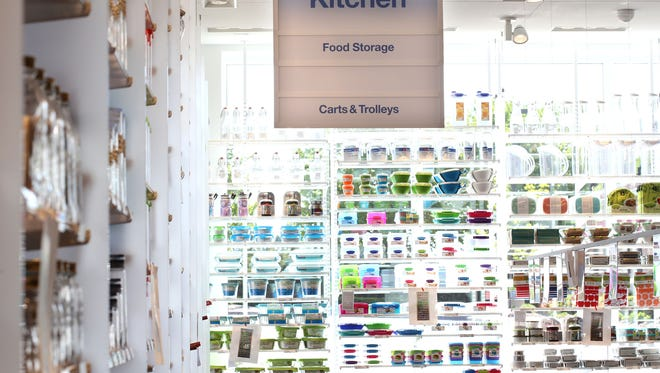 The kitchen storage aisle of The Container Store, which is to open June 4 in Novi.