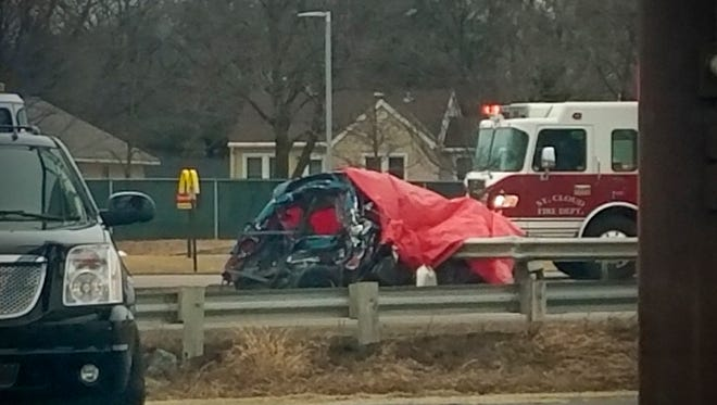 A crash on Hwy 10 in St. Cloud Saturday, March 18.