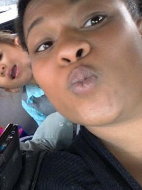 Children's mother Bedajii Harnsberry, 33, suspected of illegally taking her children from their grandmother on Monday.