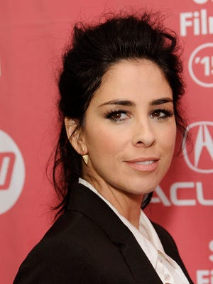 """Sarah Silverman, a cast member in """"I Smile Back,"""" poses at the premiere of the film at the Library Center Theatre during the 2015 Sundance Film Festival on Sunday, Jan. 25, 2015, in Park City, Utah. (Photo by Chris Pizzello/Invision/AP) ORG XMIT: CACP129"""