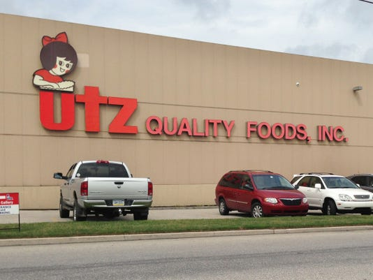FILE Utz Quality Foods' headquarters at 900 High Street in Hanover, shown in this 2013 photo, sits on property that straddles Adams and York counties.