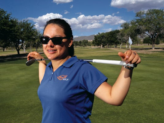 Jackie Garcia, of Canutillo High School, is competing in the Class 5A state tournament.
