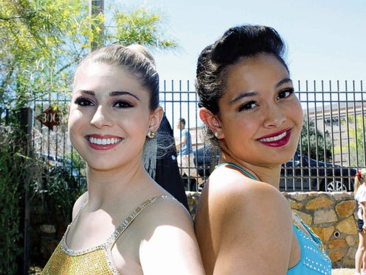 Alison McLean of Coronado High School and Makenna Villanueva from Franklin High School will compete in the solo twirling competition at the UIL state contest this weekend.