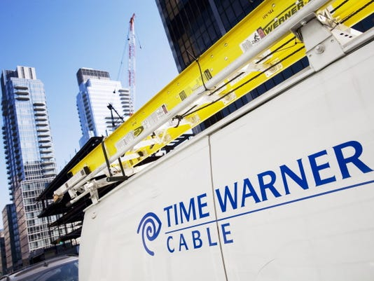 A Time Warner Cable truck is seen on Feb. 2, 2009, in New York.