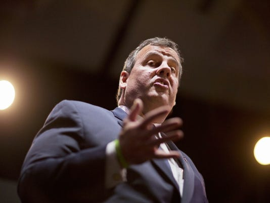 Republican presidential candidate, New Jersey Gov. Chris Christie, speaks Friday at the RedState Gathering in Atlanta.