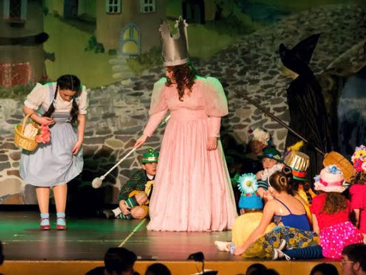 """Cast members from Northeastern High School in Manchester will perform a selection from """"The Wizard of Oz"""" during the Encore high school musical showcase April 19."""