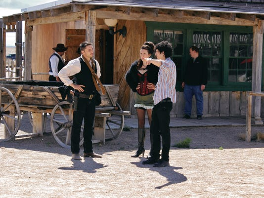 Left - Justin Marmion ( Jesse James), Center - Chelsea Foster ( Kate), Right - Co-Director Aaron Morga,