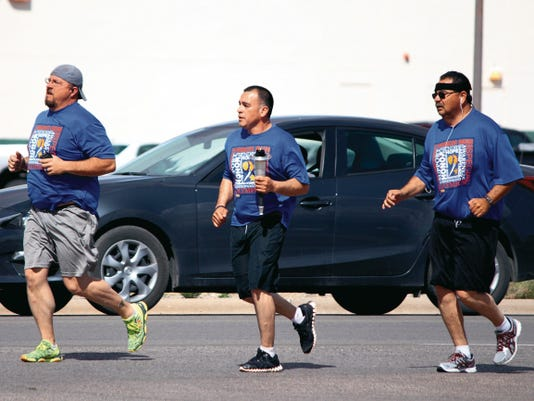 Friday's torch run began at the Tularosa Travel Center and finished at the Sheriff's Office, a distance of about ten miles. The Tularosa and Alamogordo Police Departments are also participating in this year's run, which will go through Las Cruces and finish in Albuquerque next month.