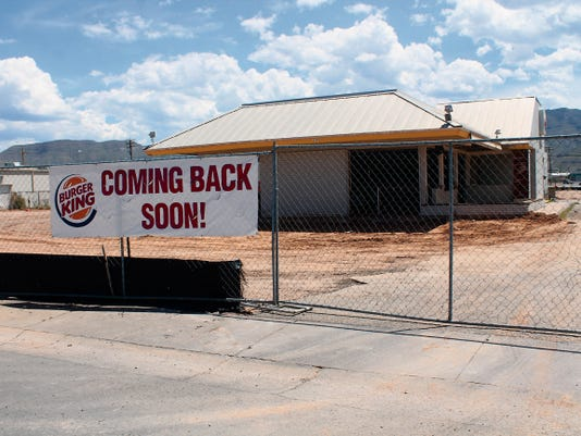 Burger King, 117 S. White Sands Blvd., is scheduled to reopen with a brand new look before Thanksgiving 2015.