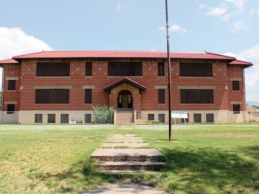The future of the historic red brick school building in Tularosa is up in the air until the county decides what to do with it.
