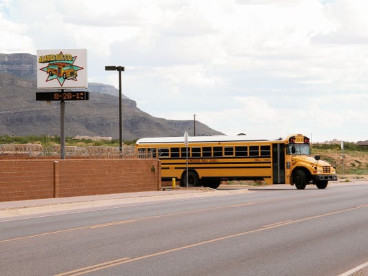 Alamogordo Public Schools contracts student transportation with the Alamo Bus Co. An APS official says a student got on the wrong bus Aug. 20 but ultimately the district is responsible for students being transported to and from their schools.