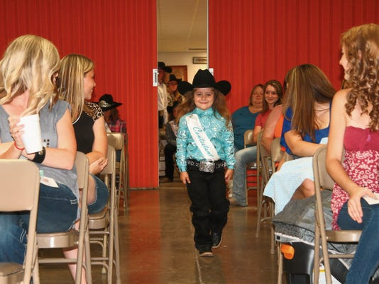 All eyes were on Jahaiza Betancourt as she made her entrance to model and answer an impromptu question in front of a panel of three judges. Betancourt was one of two contestants in the Little Miss Priss category of the Miss Rodeo Eddy County Queen Pageant held on Tuesday. Winners from each of five age divisions will be announced at the Shakin' on the Pecos Rodeo on Friday night.