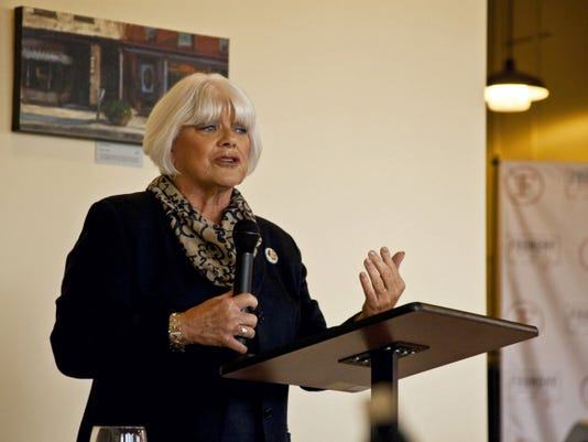 State Rep. Mauree Gingrich (R-101) speaks to members of the Community of Lebanon Association at a luncheon held Tuesday at The Foundry restaurant.