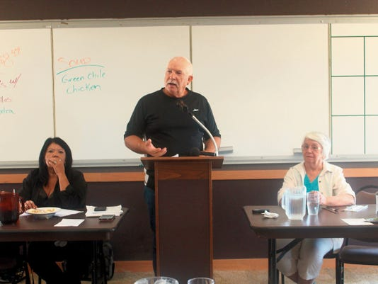 County Commission Chairman Ronny Rardin discussed being in favor of a   of 1 percent tax increase to fund for a new judicial complex at the Republican Women of Otero County's monthly luncheon meeting on Wednesday.