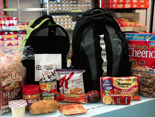 The Food4Kids backpack program sends home a backpack filled with nutritious food every Friday to ensure students in the program have meals to last throughout the weekend.