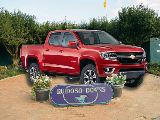 Racing Fans at Ruidoso Downs Race Track have an opportunity to win this 2015 Chevy Colorado from Sierra Blanca Motors.