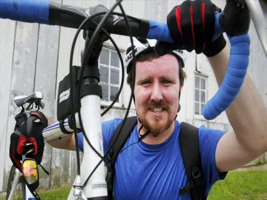 Wes Rosselet, of Penn Township, is biking from Delaware to California to raise money for ALS research.