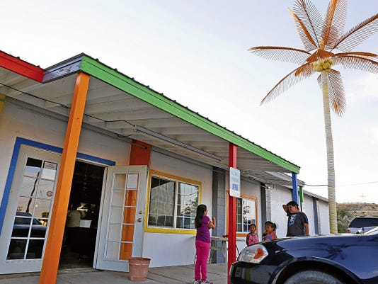 The building that previous housed Skateland is seen Friday on East Main Street in Farmington.