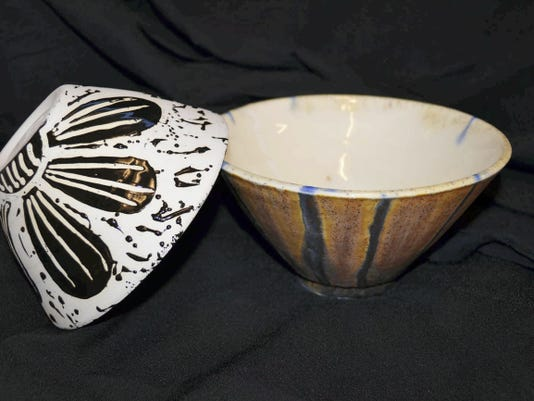 Hand made pottery bowls by CASHS art students will be distributed by lottery at the April 26 Soup for Soul benefit meal to fight hunger locally.