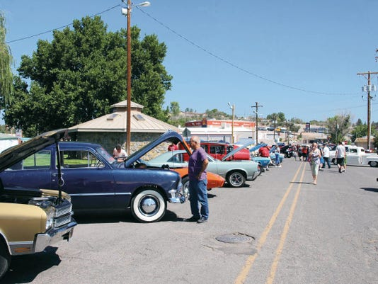 """The 24th annual """"Run for Copper Country"""" Car Show drew hundreds of classic cars and fans to Gough Park in Silver City on Saturday. Mary Alice Murphy - Sun-News"""