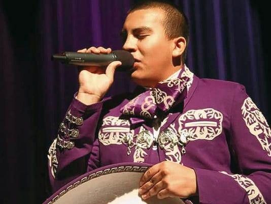 Courtesy Photo Raymond Gomez was acknowledged for his stage presence and audience interaction during the 2015 Gila Idol Competition last Thursday in Safford, Arizona. Gomez is a junior at Deming High School and a singer/musician with the Mariachi Diamantes de Deming.