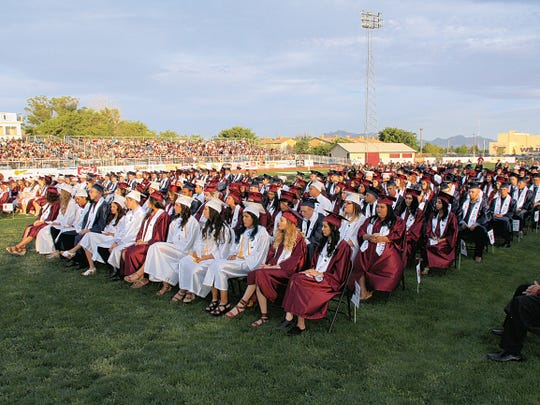 Bill Armendariz - Headlight Photo The Deming High School graduating class of 2019 will file into DHS Memorial Stadium for the commencement exercise to begin at 7 p.m. on Friday..