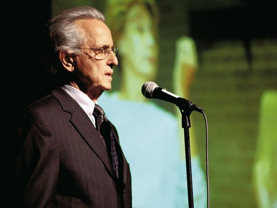 Mark Medoff speaks at the Plaza Theatre in El Paso in 2015.