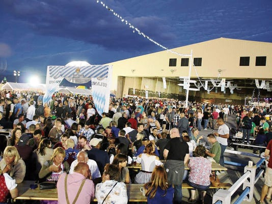 Thousands gathered for Oktoberfest 2014 at Holloman Air Force Base. The German Air Force expects at least 5,000 visitors this year.