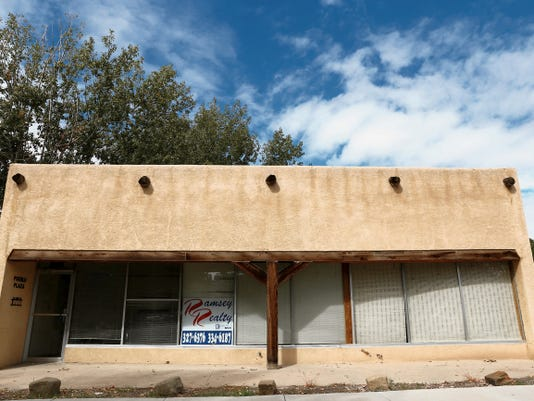 This vacant building on East Chuska Street in Aztec could become home to a business incubator while also serving as a chamber of commerce headquarters.