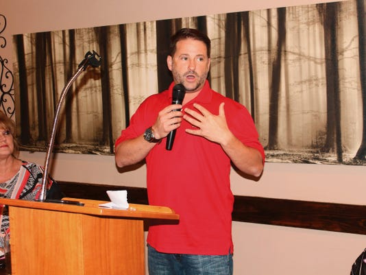 Todd Johnson, Political Director of the Republican Party of New Mexico, encouraged residents to go to the polls and vote in the upcoming presidential election in November 2016.