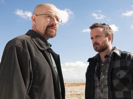 "Actors Bryan Cranston and Aaron Paul from ""Breaking Bad"""